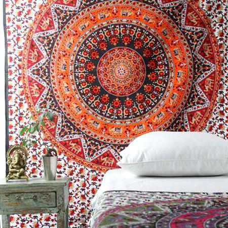 30 x 152 Cm Bleu Hare Krishna D/écoration de Maison Indienne Tenture Murale Style Ethnique Broderie Main Cadeau de de Tapisserie Murale