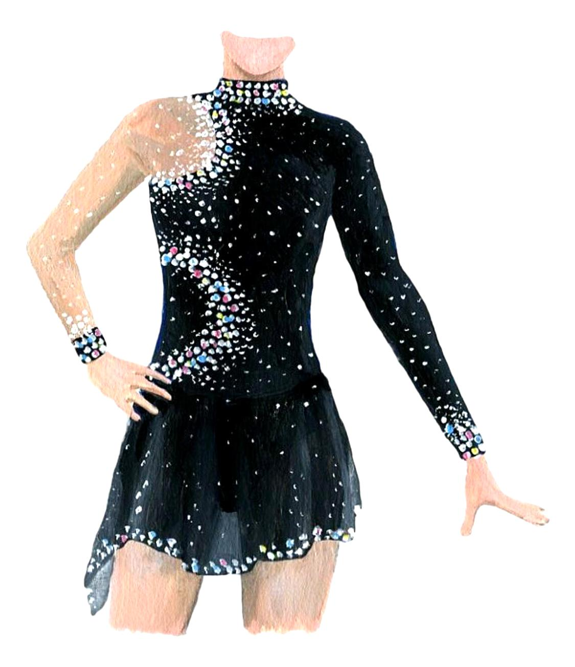robe patinage patinage artistique d'occasion