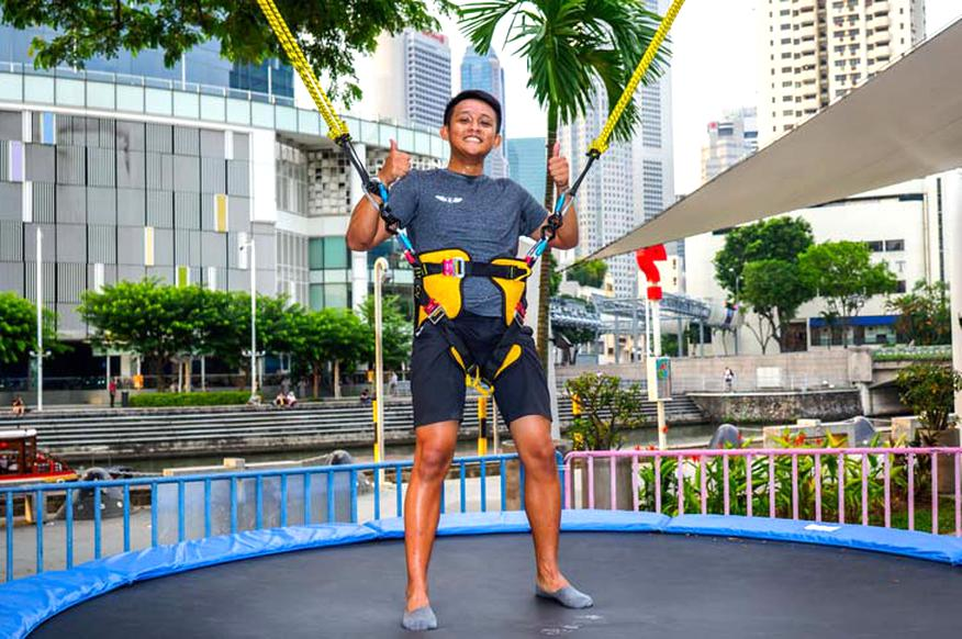trampoline bungy d'occasion