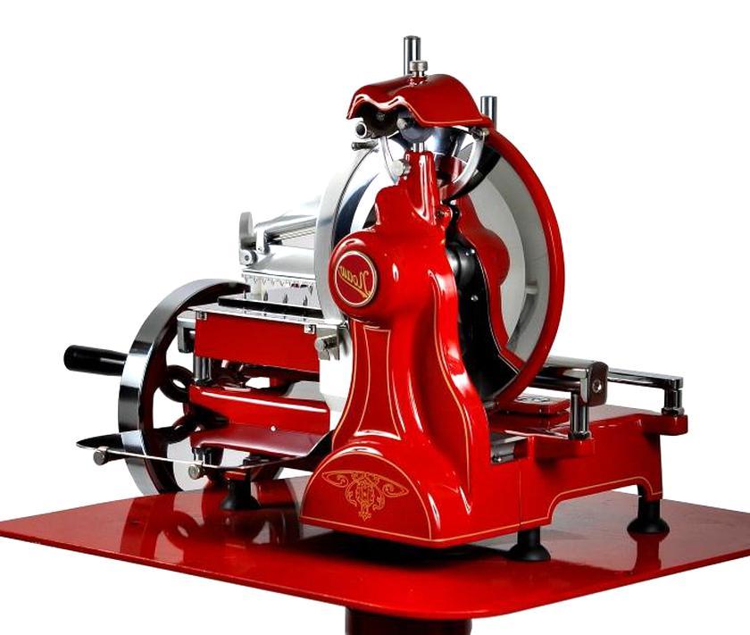 Trancheuse manuelle universelle look r/étro jupiter rouge